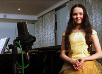 Дарина Маскевичь на записи (фото откроется в новом окне)